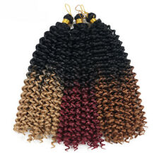 14 Inch Curly Wave Ombre Crochet Braids Synthetic Braiding Hair Bulk Extensions