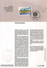 Bloc avec timbre N° YT 2886 FDC du  3/06/1994 La cour de cassation BL131
