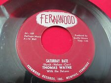1958 TENNESSEE ROCKABILLY THOMAS WAYNE WITH THE DELONS TRAGEDY/SATURDAY