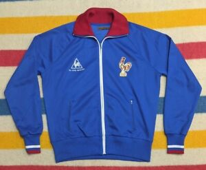 VTG 90s Le Coq Sportif Polyester France National Team Soccer Track Jacket XL