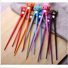 New Pretty Bear Rubber Children training chopsticks randomization sent 1pairs