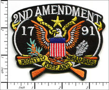 10 Pcs Embroidered Iron on patches 2nd Amendment RIGHT TO BEAR ARMS AP027LS2