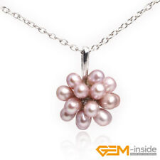 Fashion 5-6mm Flower Leaf Pearl Crystal Beads White Gold Plated  Jewelry Pendant