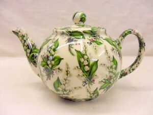 Lily of the Valley design 2 cup teapot by Heron Cross Pottery