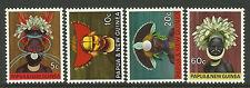 PAPUA NEW GUINEA 1968 HEADDRESSES  4v MNH