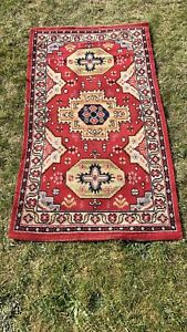 Vintage Antique Wool Rug, Traditional Eastern. 165 Cm By 91 Cm