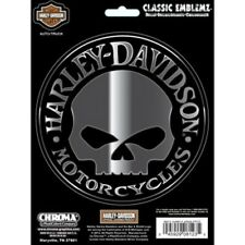 Harley-Davidson Willie G. Skull Decal 5 inch Chrome and Black Classic Graphics