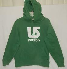 "BURTON Men's ""Big Logo"" Green Cotton Blend Hoodie Sweatshirt Size Medium"