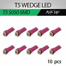 10x T5 74 Purple 5050 LED Bulb Car Indicator Instrument Cluster Dash Light Bulbs