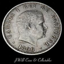 1896 Portugal Silver 500 Reis Coin
