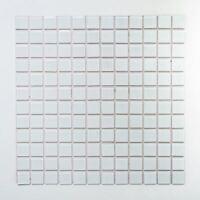 weisse Küchenrückwand Glasmosaik weiß matt Fliesenspiegel 200-4CM20|10Matten
