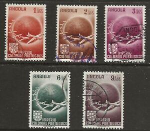 Angola (1949)  - Scott # C21 - C25,   Used