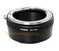 Nikon F Mount Lens to Sony E-Mount NEX Camera Adapter a6500 a6000 a5000 a6300