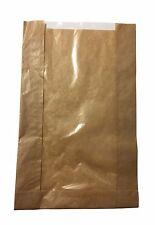 """Sacchetti di carta per alimenti con cellophane Pane Panetteria Panino Pranzo 250pcs H: 14""""/35cm"""