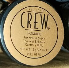 American Crew POMADE 24 X .05 TRAVEL SIZE BOTTLES Styling + FREE SHIP & Bonuses