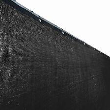 Aleko 6'x50' Black Fence Privacy Screen Mesh Fabric With Black 50 feet long x 6