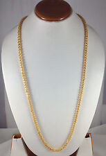Gold Plated Chain 5 mm 36 Inch Long Beautiful Design Bollywood Fashion Jewelry