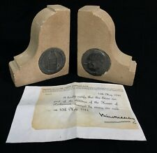 More details for antique wwii houses of parliament stone bookends / air raid damage / ww2