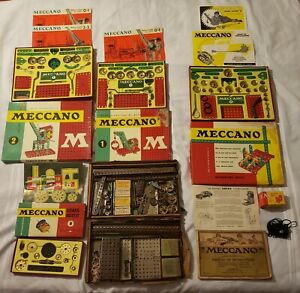 MECCANO Erector Set  ANTIQUE from 1916 AND Four Vintage 1963 box set Getting ALL