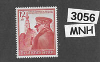 #3056  MNH 1939 Hitler Birthday stamp / PF12 + PF38 Sc B137 Third Reich Germany