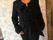 Marks & Spencer Limited Collection Black Wool Mix Coat in Black - UK Size 16