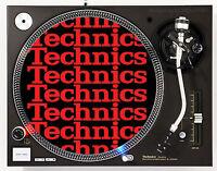 TECHNICS COLLAGE RED - DJ SLIPMAT 1200's MK5 MK2 or any turntable