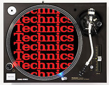 TECHNICS COLLAGE RED - DJ SLIPMATS (1 PAIR) 1200's MK5 MK2 or any turntable