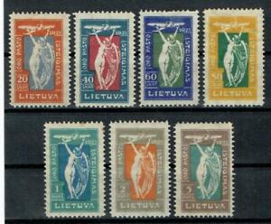Litauen,Lithuania,Lietuva,Flugpost,Minr 109 - 115,ungebr mit Falzrest Lot 57