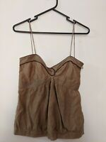 Sass & Bide Women's Top Size AUS 6 Size US 2 Mocha Sheer Made in Australia