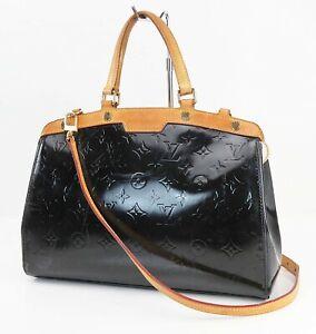 Authentic LOUIS VUITTON Brea MM Black Vernis Leather Shoulder Bag #40950