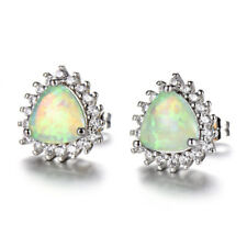 Elegant yellow imitation Opal Silver Dangle Hook Earrings wedding Jewelry gift
