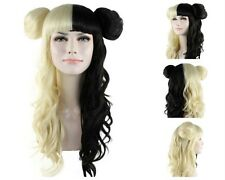 Festival Coloured Celeb Popstar Mel Martinez Blonde Black wig with buns