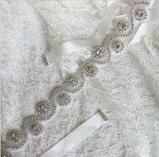 New Style Vintage Crystal Bridal Gown Sash Rhinestone Beaded Wedding Dress Belt