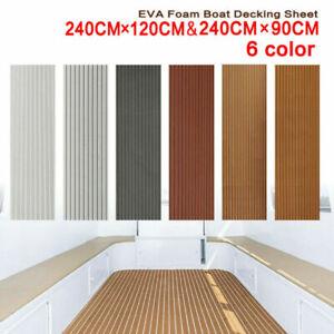 Non-Slip EVA Foam Marine Flooring Faux Teak Boat Decking Sheet Self-adhesive Mat
