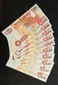 2006  ZAMBIA 10 CONSECUTIVE UNC. NOTES $K50 BANK OF ZAMBIA BB/03 7411411 TO 420