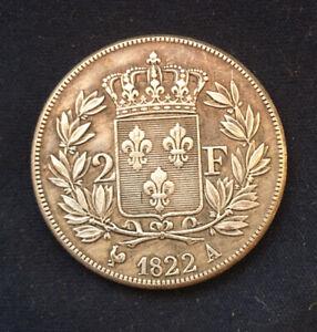 Superb Louis XV111 *1822* 2 Francs - French Coin / Fluer-De-Lis / Restrike