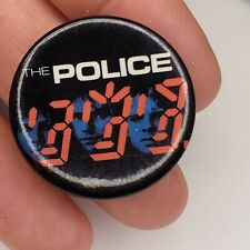 Original 1980's The Police Concert Souvenir Pin Pin back Button