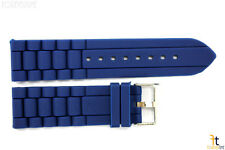 22mm Fits Fossil Navy Blue Silicon Rubber Watch BAND Strap