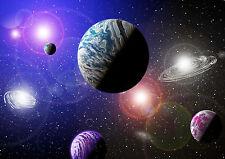Fototapete Planeten Weltraum Weltall Tapete Mond Saturn Sonne Wandtapete Kinder