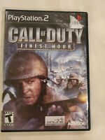 Call of Duty: Finest Hour (Sony PlayStation 2) PS2 Complete FREE S/H