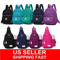 Women Girl Backpack Travel Nylon Handbag Rucksack Mini Shoulder School Bag Gifts