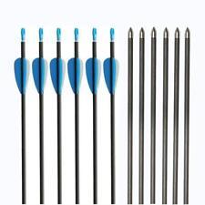 """12pcs Archery 32"""" Mix Carbon Arrows SP800 Hunting Compound Recurve Bow Field Tip"""