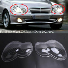 Headlight Lens Headlamp Cover Fit for Benz W203 C280 C350 C-Class 2001-2007 BE