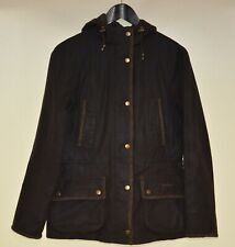 Womens Barbour Elkhorn Wax Jacket With Tweed Details Size UK 10 USA 6 M
