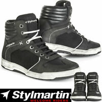 STYLMARTIN ATOM Mesh Leder Motorrad Sneaker atmungsaktiv mit Knöchelprotektoren