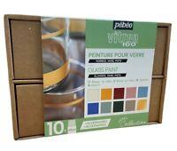 Pebeo Vitrea 160 Vetro Dipinto Collezione Set 10x 45ml Acqua Base Pittura 758462