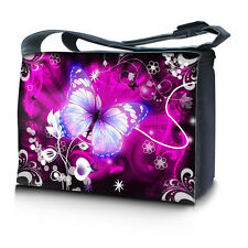 "15.6"" 15"" Laptop Notebook Padded Compartment Shoulder Messenger Bag Butterfly N4"