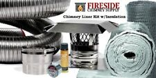 "6""x 15' Smoothwall Flexible Chimney Liner Insert Kit w/ Insulation"