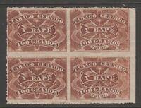 Mexico Snuff tobacco fiscal Revenue Cinderella stamps ma33 no gum nice