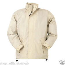 UNISEX WATERPROOF & WINDPROOF HOODED OUTDOOR JACKET / COAT IN BEIGE MENS MEDIUM